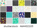 Stock vector abstract seamless patterns s s styles trendy memphis style colorful geometric background 464432105