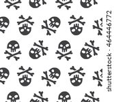 doodle style pirate skull and... | Shutterstock . vector #464446772