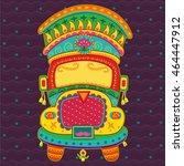 vector design of truck of india ... | Shutterstock .eps vector #464447912
