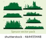 spruce forest vector pack | Shutterstock .eps vector #464455448