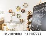 pretty cozy white children's... | Shutterstock . vector #464457788