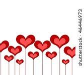 red heart vector valentine...   Shutterstock .eps vector #46446973