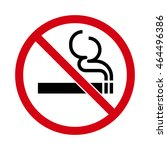 no smoking icon. vector... | Shutterstock .eps vector #464496386