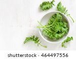 kale leaves in a white bowl ... | Shutterstock . vector #464497556