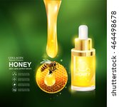 collagen honey serum  and... | Shutterstock .eps vector #464498678