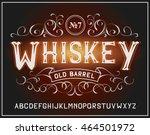 vector vintage label font.... | Shutterstock .eps vector #464501972