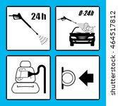 set of car washing icons. self... | Shutterstock .eps vector #464517812