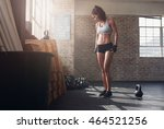 full length shot of fit and... | Shutterstock . vector #464521256