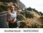 shot of young fitness woman... | Shutterstock . vector #464523002