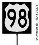 a 3d rendering of a highway... | Shutterstock . vector #464524376