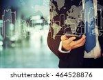 businessman holding phone | Shutterstock . vector #464528876
