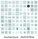 menthol colors vector icon set  ... | Shutterstock .eps vector #464537816