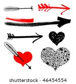 freehand hearts and arrows...
