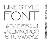 vector linear font   simple and ... | Shutterstock .eps vector #464549666