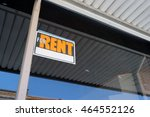 for rent sign on window of... | Shutterstock . vector #464552126