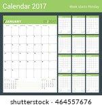 vector print template. monthly...   Shutterstock .eps vector #464557676