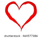 painted heart isolated on white ...   Shutterstock .eps vector #464577386