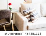 beautiful luxury pillow on sofa ... | Shutterstock . vector #464581115