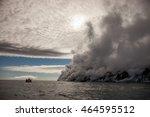 chirpoy island  snow volcano...   Shutterstock . vector #464595512