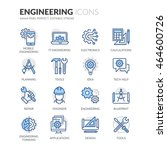 simple set of engineering... | Shutterstock .eps vector #464600726