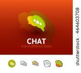 chat color icon  vector symbol...