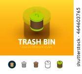 trash bin color icon  vector...