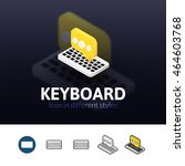 keyboard color icon  vector...