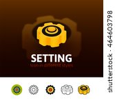 setting color icon  vector...