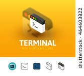 terminal color icon  vector...