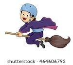 illustration of a little... | Shutterstock .eps vector #464606792