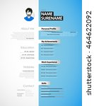 creative cv template with paper ...