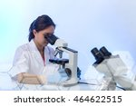 laboratory microscope research.... | Shutterstock . vector #464622515