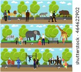 Zoo Concept Banners. People...