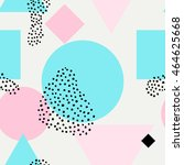 boho seamless pattern with pink ... | Shutterstock .eps vector #464625668