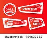 set of sale  discount stickers... | Shutterstock .eps vector #464631182