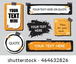 vector quote or text boxes... | Shutterstock .eps vector #464632826