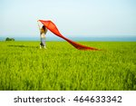 young lady runing with tissue... | Shutterstock . vector #464633342