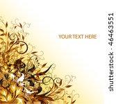 flowers vector cover | Shutterstock .eps vector #46463551