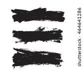 vector set of grunge artistic... | Shutterstock .eps vector #464641286