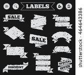 stickers  tags and banners with ... | Shutterstock .eps vector #464643386