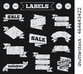 stickers  tags and banners with ...   Shutterstock .eps vector #464643422