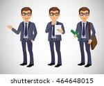 elegant people businessman | Shutterstock .eps vector #464648015