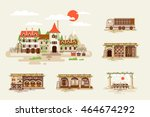 set stock vector illustration... | Shutterstock .eps vector #464674292