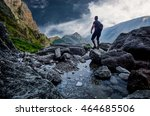 explorer in mountain athletic... | Shutterstock . vector #464685506