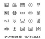 video production icons line | Shutterstock .eps vector #464693666