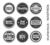 set of nine stickers  tags ... | Shutterstock .eps vector #464694836