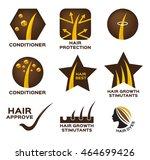 hair conditioner logo set... | Shutterstock .eps vector #464699426