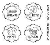 set of vector labels with hand...   Shutterstock .eps vector #464704505