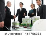business meeting of architects... | Shutterstock . vector #464706386