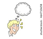 freehand drawn thought bubble... | Shutterstock . vector #464710658